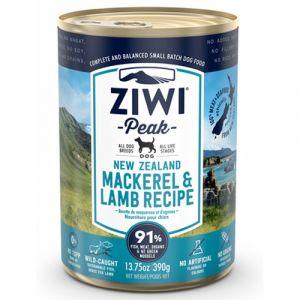 ZiwiPeak vådfoder Mackerel/Lamb (makrel/lam) - 390 g.