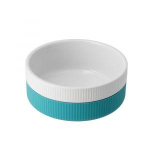 Keramik/silikone foder- vandskål - Turkis