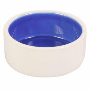 Keramik hundeskål - Blå/hvid